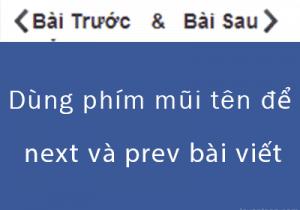 Dùng phím mũi tên để next và prev post trong wordpress