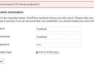 Giải quyết vấn đề đòi tài khoản FTP khi thêm plugin cho wordpress