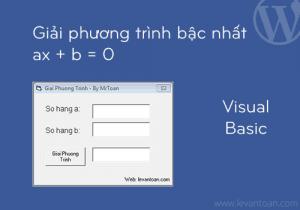 Giải phương trình bậc nhất bằng visual basic