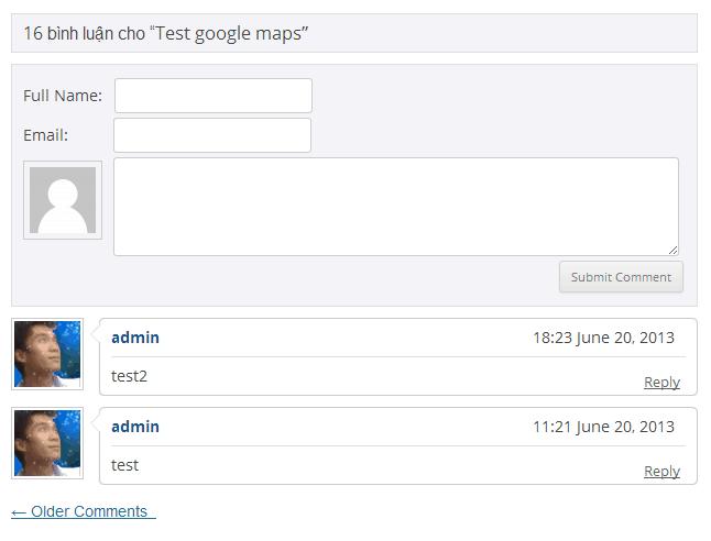Tùy chỉnh theme comment trong wordpress
