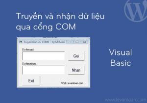Truyền nhận dữ liệu qua cổng COM bằng vb