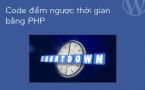 Code đếm ngược thời gian đơn giản bằng php