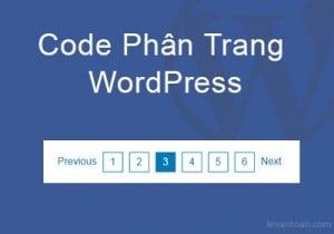 Code phân trang wordpress