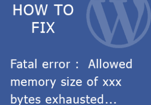 Fix Fatal error : Allowed memory size of 67108864 bytes exhausted (tried to allocate 196608 bytes)