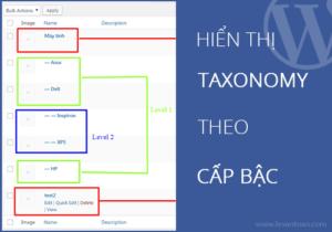 Hiển thị Taxonomy theo cấp bậc – Get taxonomy by level