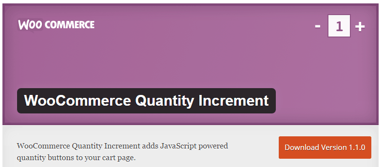 WooCommerce Quantity Increment