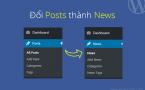 """Chuyển chữ """"Posts"""" thành """"News"""""""