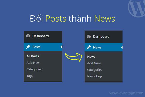 Chuyển posts thành news