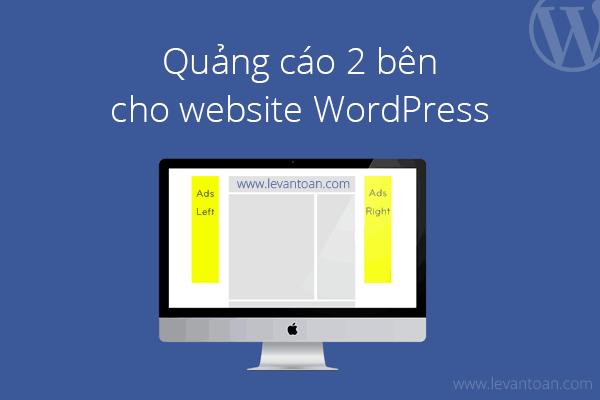 Quảng cáo 2 bên cho website WordPress