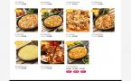 Giao diện trang cửa hàng website pizze