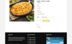 Giao diện trang chi tiết sản phẩm website pizze
