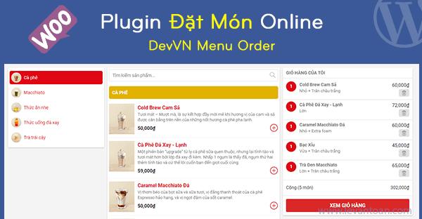 DevVN Menu Order – Plugin đặt đồ ăn nhanh, đồ uống online cho WordPress và Woocommerce