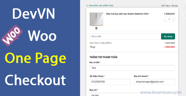 DevVN Woocommerce One Page Checkout